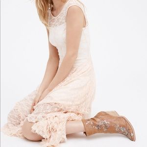 FREE PEOPLE French Courtship Slip in Tea Combo